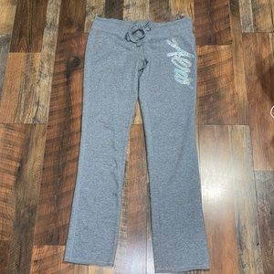 Aeropostale Gray Sweats with Silver Sequin Bling